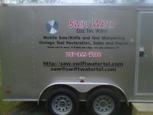 Mobile sharpening trailer